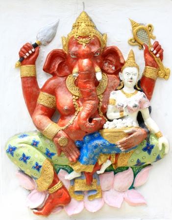 ganapati: Hindu Sankatahara Ganapati at temple in thailand Stock Photo