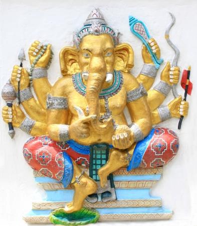 parvati: Hindu Sankatahara Ganapati at temple in thailand Stock Photo