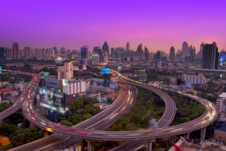 Traffic at twilight,Bangkok Thailand  photo
