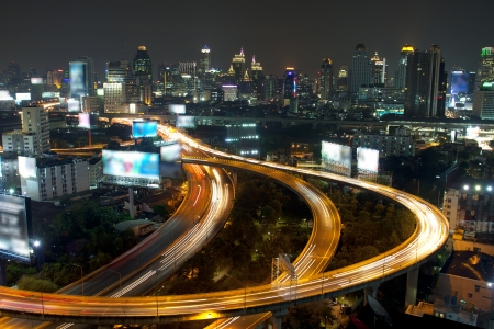 Traffic at night,Bangkok Thailand  photo