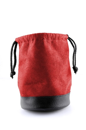 Bag leather colorred  on white background with path photo