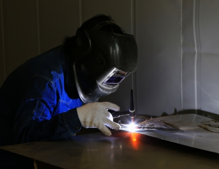 acetylene: Welding with sparks