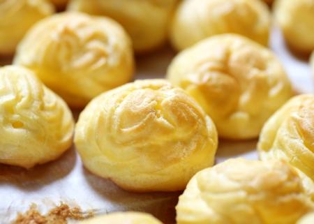 puffs: Cream puffs Stock Photo