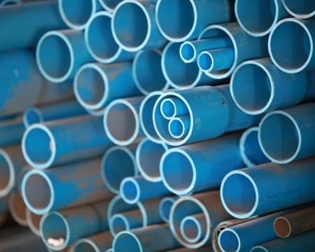 PVC pipes in store photo