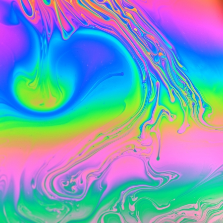 balance rainbow colors: Rainbow colors created by soap, bubble, or oil makes can use background  Stock Photo