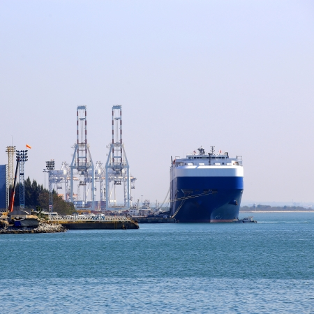 Cargo ship at the port