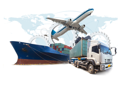 supply chain management logistiek Import Export Stockfoto
