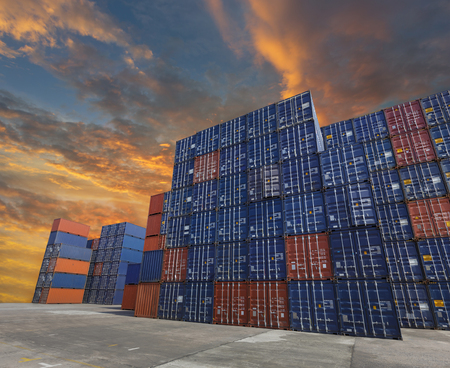 import and export business: Industrial Container yard for Logistic Import Export business