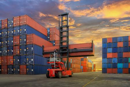 Industriële Container tuin voor Logistieke Import Export bedrijf Stockfoto