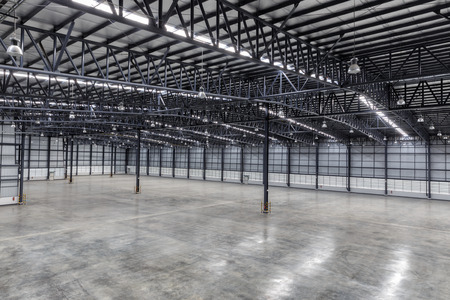 Roof of empty warehouse Stock Photo