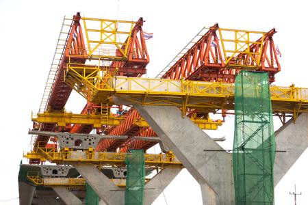 Concrete Bridge Under Construction at concrete site.