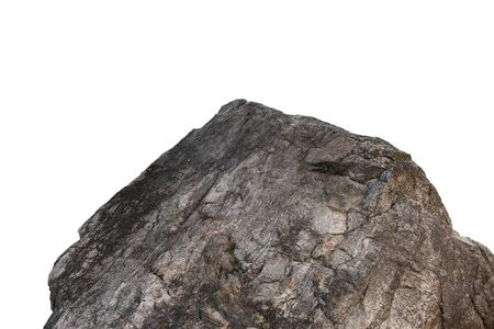 Cliff stone located part of the mountain rock isolated on white background. 스톡 콘텐츠