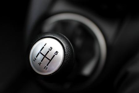 gearshift: Manual shift gear. Stock Photo