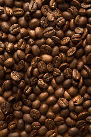Roasted coffee beans, can be used as a background Foto de archivo