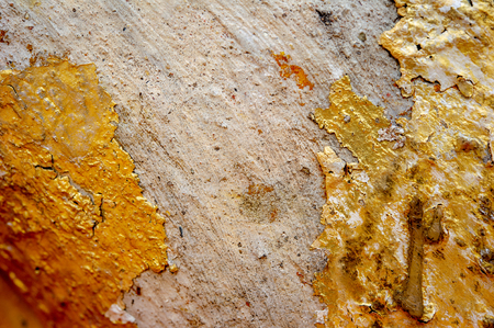 Grunge and golden wall texture background. Decorative wall paint.Can be use for wallpaper or background texture.