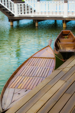 Rowboat  at Huahin -floating market photo