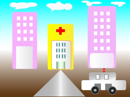Illustration of hospital Vector