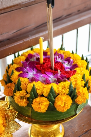 Loy Kratong Festival in Thailand photo