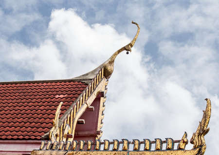 Thai art on roof at Thai temple  photo