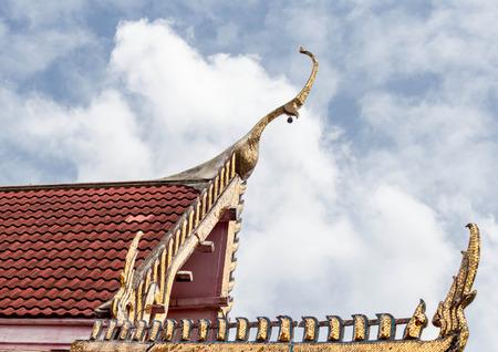 Thai art on roof at Thai temple  photo