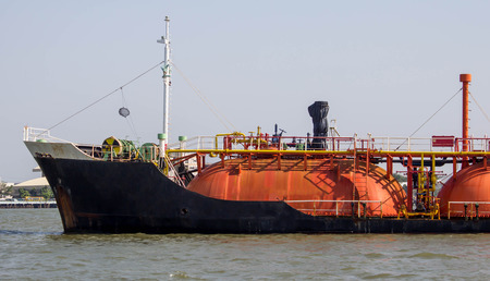 liquefied: Oil and gas industry- gas tanker LPG