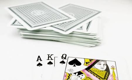 Pocket Nines isolated on white background photo
