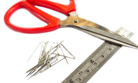 ideogram: Nail scissors ruler  on white background