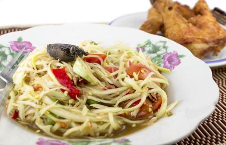 Papaya salad (Som tum) photo