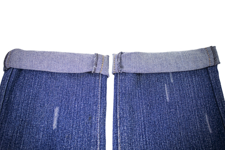 worn jeans: Blank real  jeans  sewed on old worn blue jeans