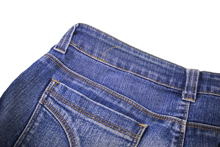 denim jeans: Blank real  jeans  sewed on old worn blue jeans