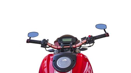 tilt views: Isolation Of Red motorbike on white background