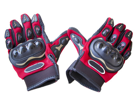 motorcycle racing: Motorcycle Racing Gloves on white background