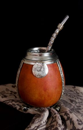 mate drink: Yerba mate is a traditional tonic drink in south america.