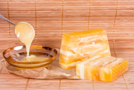 Handmade Soap closeup.Spa  photo