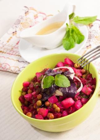 Vinaigrette  is Salad of traditional Russian cuisine photo