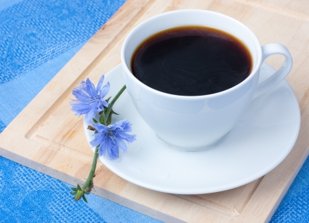 chicory coffee: chicory in a white cup