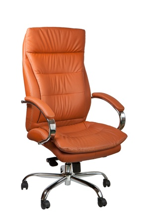 Brown office leather chair photo