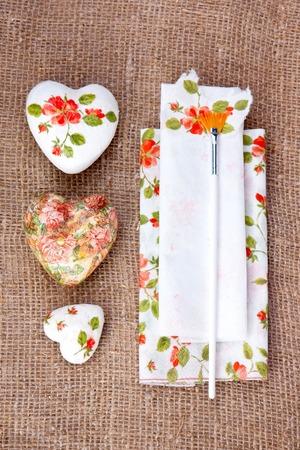 decoupage: Three valentines gift   decoupage decorated