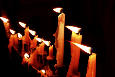 キャンドル ライト、暗い夜のような生活は常に希望し、常に明日があります。