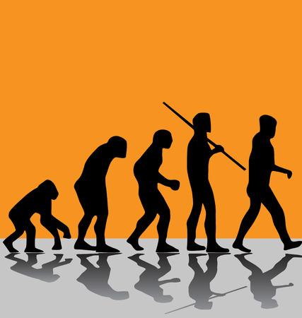 evolución  Ilustración de vector