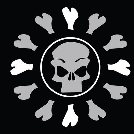 vectored: Skull
