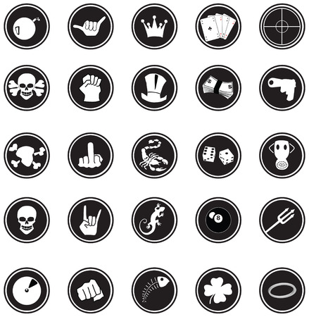 vectored: Comic buttons