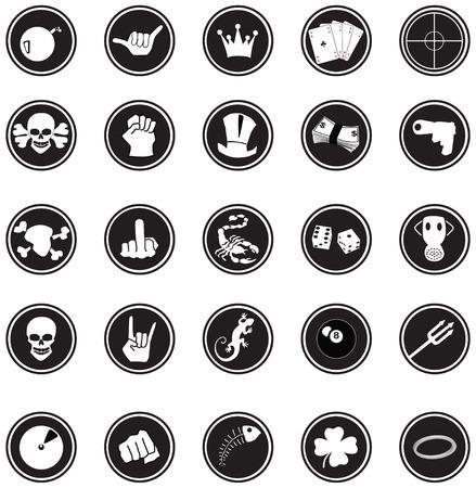 finger bones: Comic buttons
