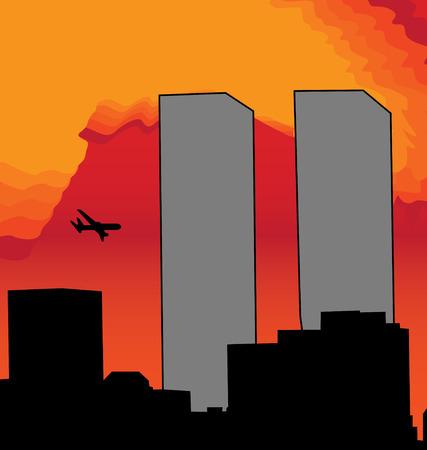 el 11 de septiembre Ilustración de vector