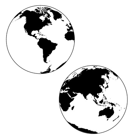 vectored: globes Illustration