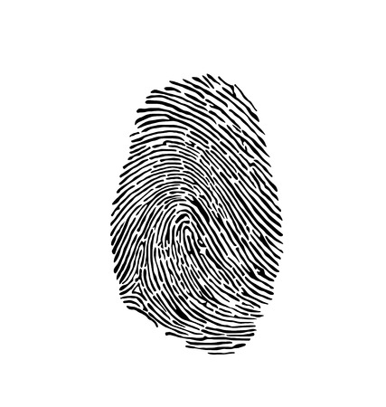 thumb print: finger print Illustration