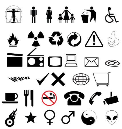 simbolo hombre mujer: s�mbolos de recogida