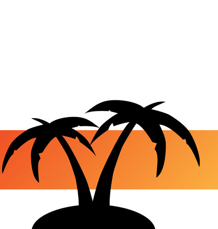 TROPICAL ISLAND ILLUSTRATION Vector
