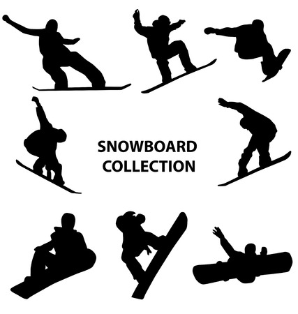 wintersport: snowboard silhouettes
