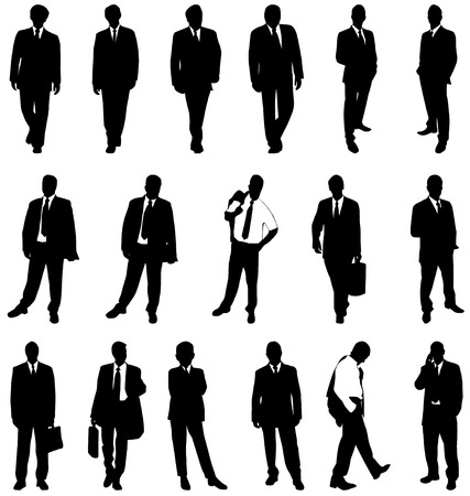 silhouettes: businessman silhouettes Illustration